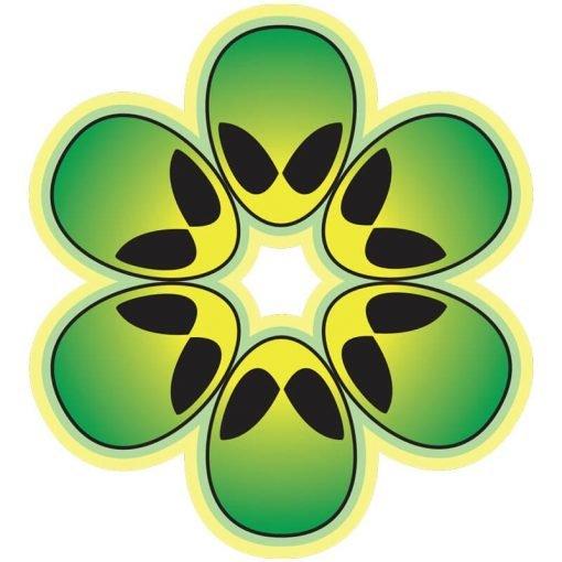 Green alien Flower Power