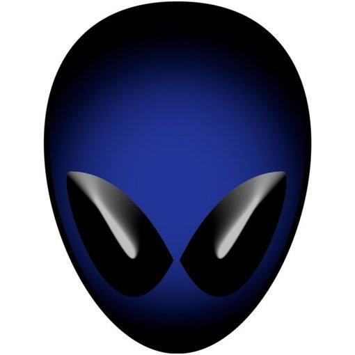 Blue Alien Head
