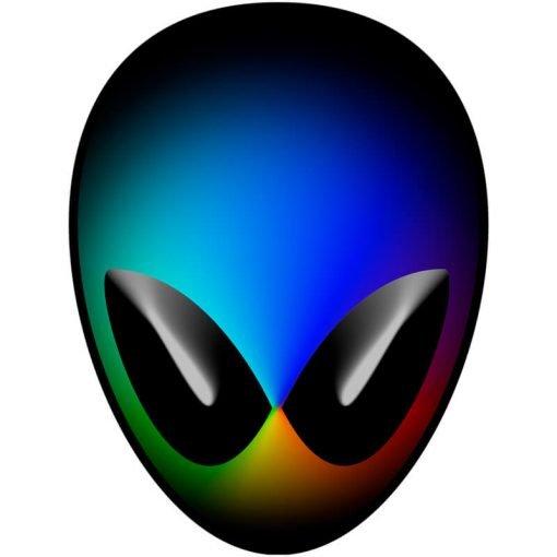 Rainbow Alien Head