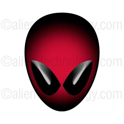 Red Alien Head