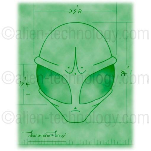 green alien skull artifact